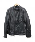 SCOTCH & SODA(スコッチアンドソーダ)の古着「シングルライダースジャケット」|ブラック