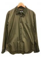 ()の古着「クレリックシャツ」|ブラウン