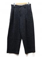 Traditional Weatherwear(トラディショナルウェザーウェア)の古着「ワンタックオーバーツイードパンツ」|チャコールグレー