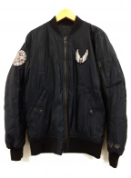 lucien pellat-finet(ルシアン・ペラフィネ)の古着「スカルリバーシブルブルゾン」|ブラック
