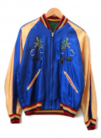 テーラー東洋(テーラートウヨウ)の古着「リバーシブルサテンスカジャン」 ブルー×ベージュ