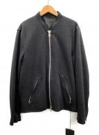 TATRAS(タトラス)の古着「シングルライダースジャケット」|ブラック