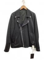 TATRAS(タトラス)の古着「ダブルライダースジャケット」|ブラック