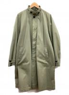 vainl archive(ヴァイナルアーカイブ)の古着「スタンドカラーコート」|グリーン