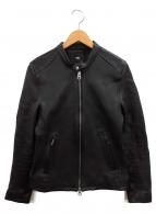HARE(ハレ)の古着「シングルレザージャケット」|ブラック