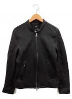 HARE()の古着「シングルレザージャケット」|ブラック