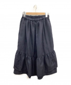 COMME des GARCONS GIRL(コムデギャルソン ガール)の古着「ギャザーロングスカート」|ネイビー