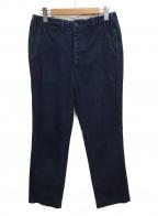 BONCOURA(ボンクラ)の古着「インディゴヘリンボーンスラックス」|ブルー