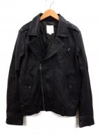 DIESEL()の古着「ダブルライダースジャケット」|ブラック