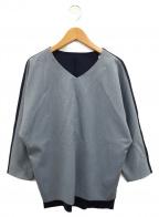 BASILE 28(バジーレ28)の古着「プルオーバーブラウス」 ブルー×ネイビー
