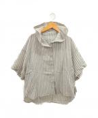 BASILE 28(バジーレ28)の古着「半袖プルオーバーシャツ」 ブラウン