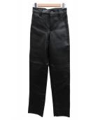 VANSON(バンソン)の古着「レザーパンツ」|ブラック