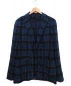 TAGLIATORE(タリアトーレ)の古着「ペーンシングル2ッ釦ジャケット」|ブルー