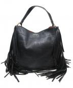PRADA(プラダ)の古着「フリンジセミショルダーバッグ」|ブラック