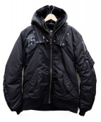 AVIREX(アビレックス)の古着「フライトジャケット」|ブラック