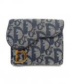Christian Dior()の古着「3つ折り財布」|ネイビー