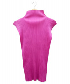 PLEATS PLEASE(プリーツプリーズ)の古着「プリーツブラウス」|ピンク