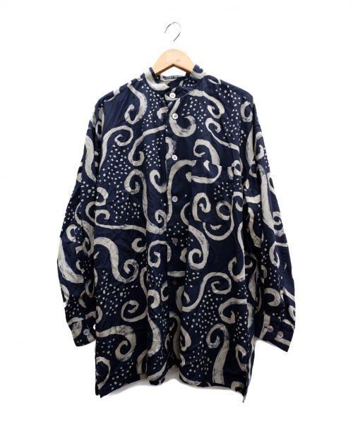 90s ISSEY MIYAKE(イッセイミヤケ)90s ISSEY MIYAKE (イッセイミヤケ) 総柄長袖シャツ ブラック×グレー サイズ:Mの古着・服飾アイテム