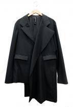 ()の古着「アシンメトリージャケット」 ブラック