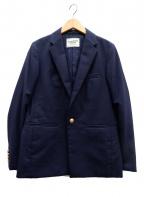 DEUXIEME CLASSE(ドゥーズィエム クラス)の古着「ウールギャバ紺ブレザー」|ネイビー