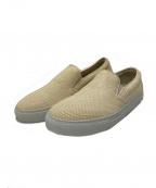 Pantofola dOro(パントフォラドーロ)の古着「レザーメッシュスリッポン」|クリームホワイト