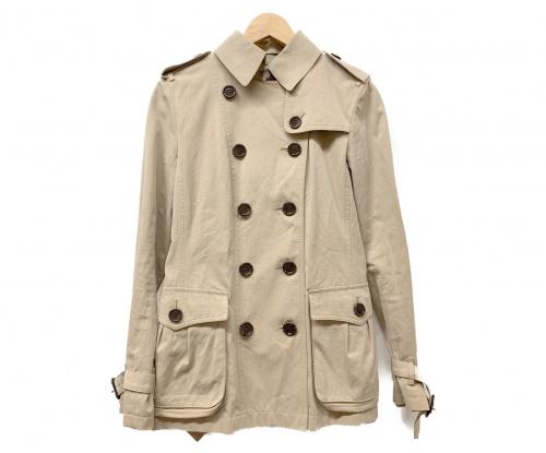 BURBERRY LONDON(バーバリーロンドン)BURBERRY LONDON (バーバリーロンドン) ショートトレンチコート ベージュ サイズ:38 無地 秋冬物の古着・服飾アイテム