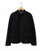 blackbarrett(ブラックバレット)の古着「バンドカラージャケット」 ブラック