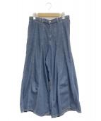 orSlow(オアスロウ)の古着「デニムワイドパンツ」|ブルー