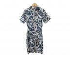 FWk Engineered Garments(エフダブリューケーエンジニアードガーメンツ)の古着「ボタンダウンシャツワンピース」|アイボリー×ネイビー