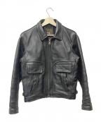 VANSON(バンソン)の古着「レザージャケット」 ブラック