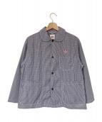 DANTON(ダントン)の古着「シャツジャケット」 ブルー
