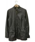GIANFRANCO FERRE(ジャンフランコフェレ)の古着「レザージャケット」 ブラック