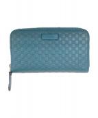 GUCCI(グッチ)の古着「長財布」 ブルー