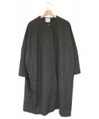 CLANE(クラネ)の古着「ノーカラーコート」 ブラック