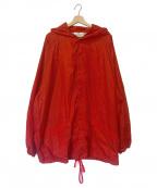 VOTE MAKE NEW CLOTHES(ヴォートメイクニュークローズ)の古着「ビッグコーチジャケット」|レッド