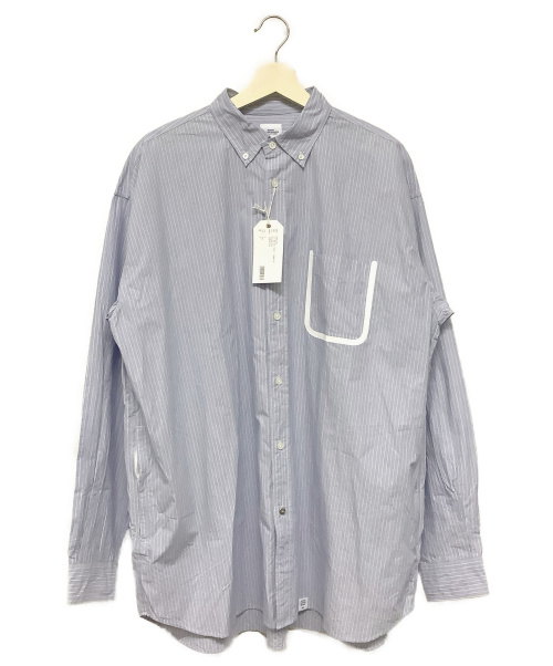 BEDWIN &THE HEARTBREAKERS(ベドウィンドアンドザ ハートブレイカーズ)BEDWIN &THE HEARTBREAKERS (ベドウィンドアンドザ ハートブレイカーズ) ボタンダウンビッグシルエット ブルー サイズ:3 ストライプの古着・服飾アイテム
