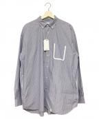 BEDWIN &THE HEARTBREAKERS(ベドウィンアンドザ ハートブレイカーズ)の古着「ボタンダウンビッグシルエットシャツ」 ネイビー