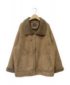 MURUA(ムルーア)の古着「フェイクムートンコート」|ブラウン