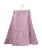 MADISON BLUE(マディソンブルー)の古着「ウールフレアスカート」 ピンク