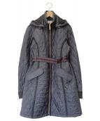 HUNTER(ハンター)の古着「キルティングコート」|ネイビー