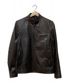 EDIFICE(エディフィス)の古着「レザージャケット」|ブラウン