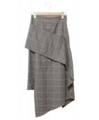 MIHARA YASUHIRO(ミハラヤスヒロ)の古着「ロングスカート」|ブラウン×イエロー