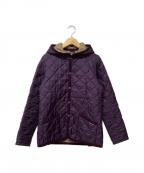 LAVENHAM(ラベンハム)の古着「フーデッドキルティングジャケット」|パープル