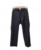kaiko(カイコー)の古着「センタープレスパンツ」|ブラック