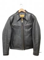 LOST WORLDS(ロストワールド)の古着「レザージャケット」 ブラック