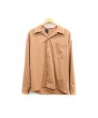 N.HOOLYWOOD(エヌハリウッド)の古着「オープンカラーシャツ」|ブラウン