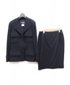 CHANEL(シャネル)の古着「スカートスーツ」|ネイビー