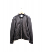 UNITED TOKYO(ユナイテッドトウキョウ)の古着「ラムレザージャケット」 ブラック