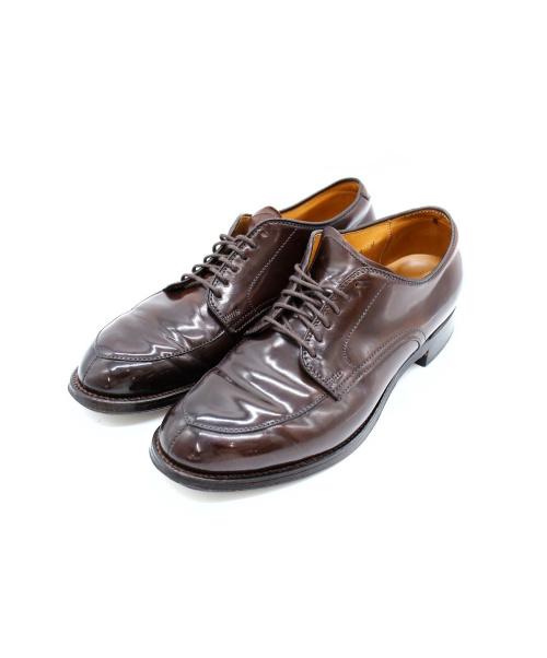 ALDEN(オールデン)ALDEN (オールデン) Vチップレザーシューズ サイズ:6.5 Uチップ シェルコードバン グッドイヤーウェルト製法の古着・服飾アイテム