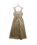 INTIMITE(アンティミテ)の古着「ジャンパードレス」|ベージュ